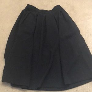 High waisted flared midi skirt